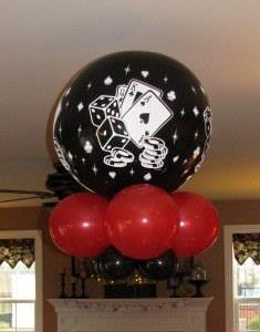 3 ft Poker Balloon Bouquet