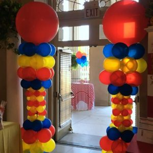Circus Balloon Columns