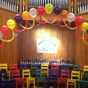 Pre School Graduation Balloon Arch